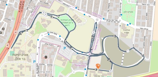 מפות המסלולים במרוץ גבעת שמואל 2020