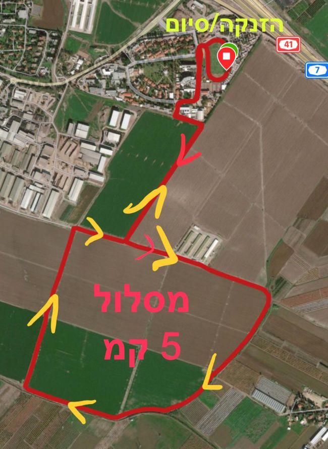 מפות המסלולים במרוץ חבל יבנה 2019