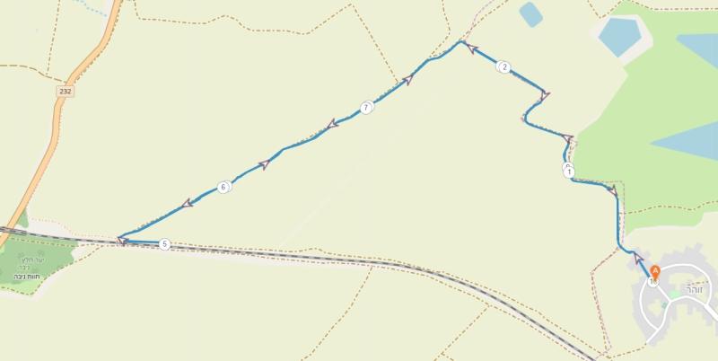 מפת מסלול מרוץ לכיש