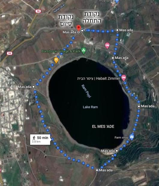 מפת מסלול מרוץ השלום