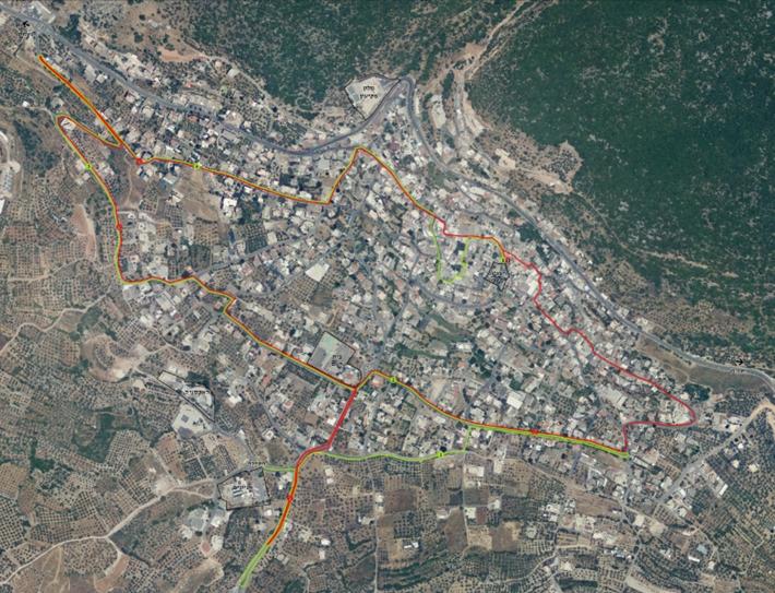 מפת מסלול מרוץ פקיעין