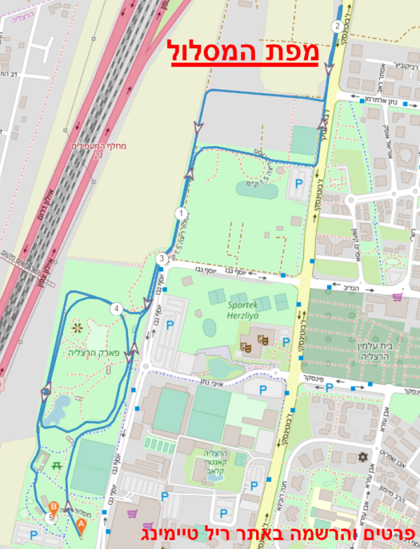 מפת מסלול מרוץ הנשים בהרצליה 2021